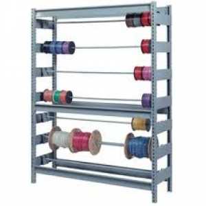 Sturdy steel wire reel storage rack features 6 levels that adjust on 1-1/2 centers and can hold up to 3 axles each. This model includes three 1/2 ...  sc 1 st  Olympic Shelving & Olympic Wire Shelving Affordable Reel Shelving Reel Storage Rack ...